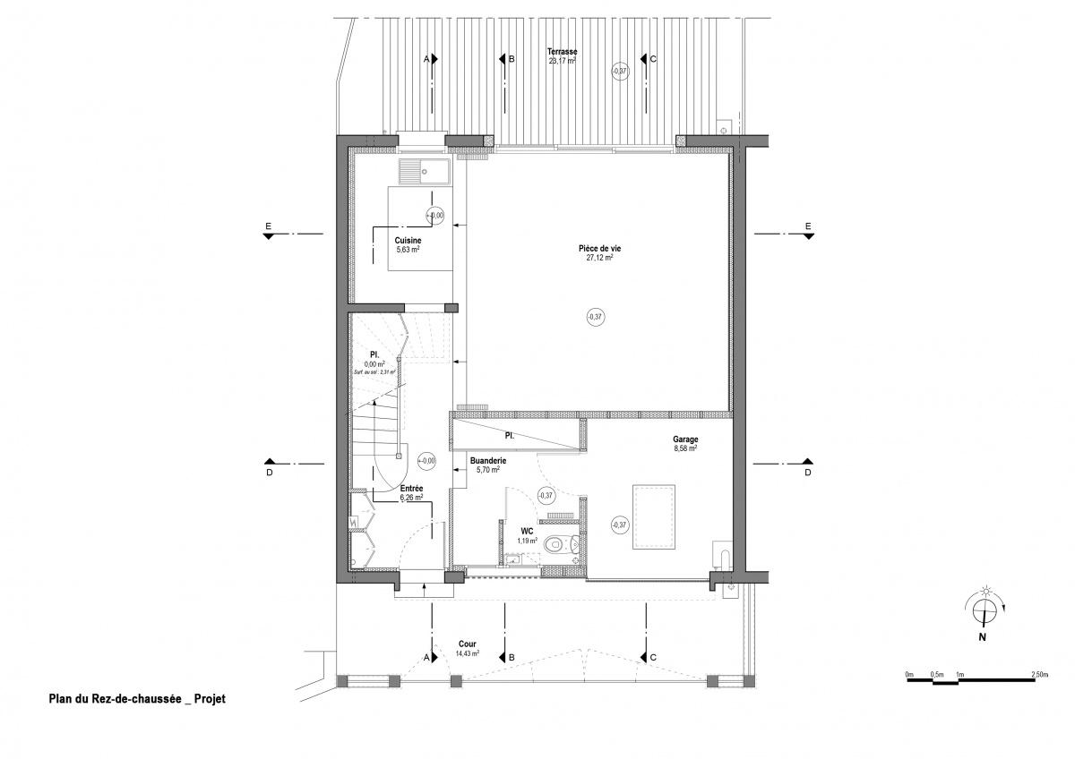 Maison R : Rez-de-chaussée