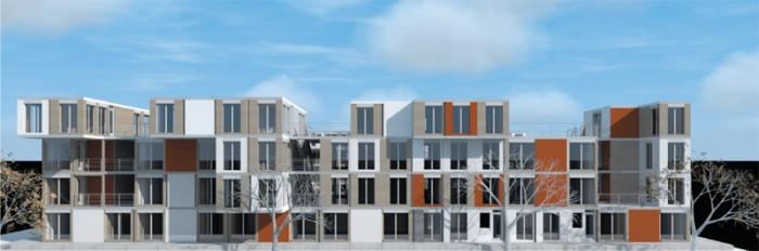RESIDENCES ETUDIANTES PRÉFABRIQUÉS EN CONTAINERS RECYCLÉS : facade1
