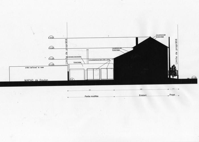 Rénovation d'une maison et aménagement de son extension ( projet en cours ) : Façade extension