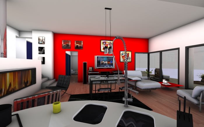 Maison contemporaine Sulniac : Aménagement intérieur