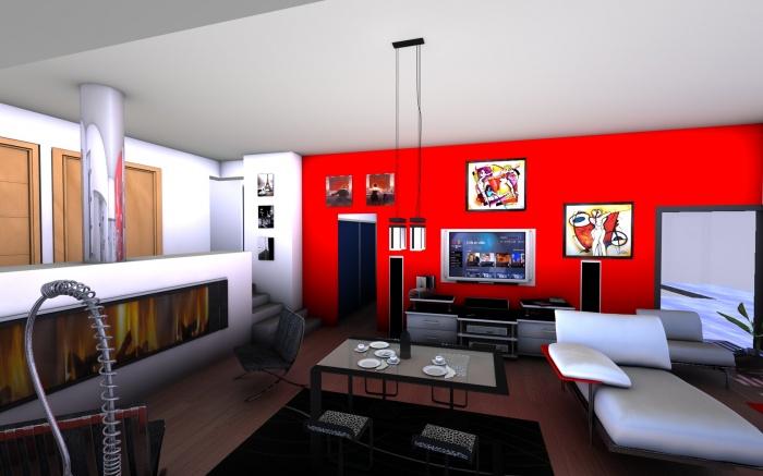 Maison contemporaine sulniac sulniac for Amenagement interieur longere