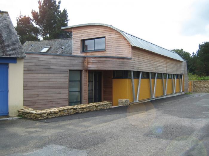 Extension bois sur longère - Vannes : Façade rue