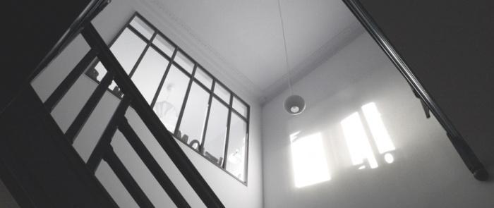 Kercadic - rénovation d'une maison : ESCALIER.JPG