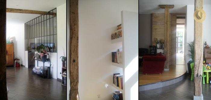 Rénovation d'une loge - Projet B+H : 4- Aménagement intérieur style atelier d\'artiste 53
