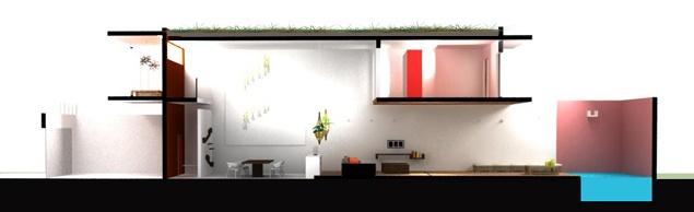 Maison Kut : Section de la maison
