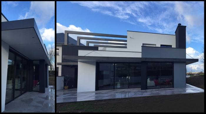 Maison neuve - Projet B+B : 4 Maison contemporaine moderne rennes 35 53 vitré betton cesson sevigné rennes architecte lise roturier architecte 2.2vues