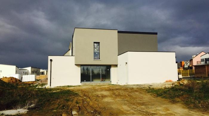 Maison neuve LS+H : 3- Maison moderne maison d\'architecte rennes 35 maitre d\'oeuvre rennes 35 lise roturier architecte dplg 2.2 vues