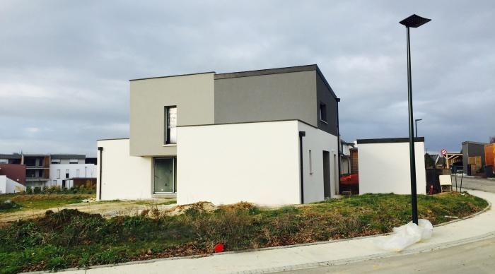 Maison neuve LS+H : 7- Agence 2.2 vues architecte rennes maitre d\'oeuvre rennes 35 53 laval maison neuve maison moderne maison cube maison cubique